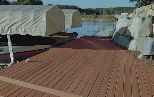 Composite deck stains on composite decking for Staining trex decking