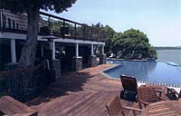 ipe decking poolside